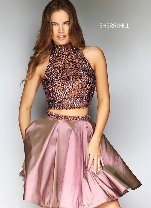 da53f4e35f Style 53089 from Jovani is a two piece short homecoming dress with an  embellished top. Vestido Top