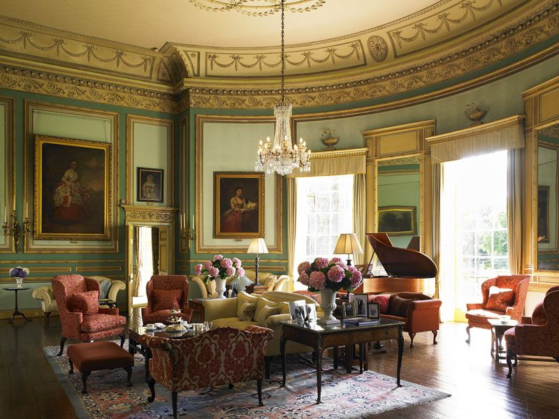 The drawing room at swinton park ideas for a georgian for Georgian living room ideas