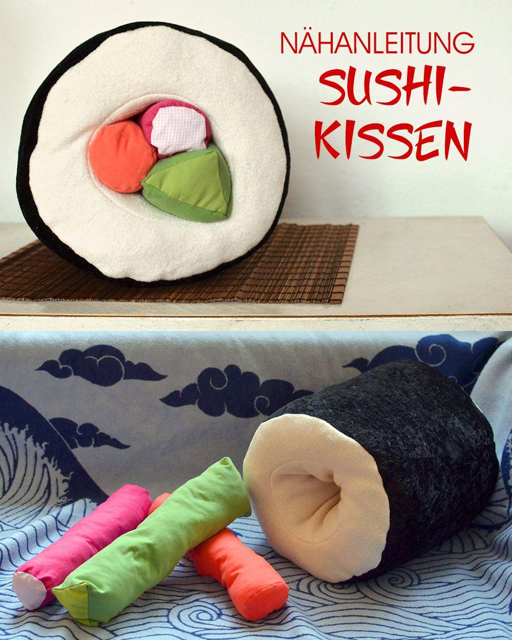 Anleitung Maki Sushi Kissen Nahen Kissen Nahen Kissen Und