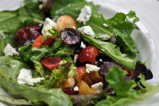 Goat Cheese, Cherry, and Pistachio Salad  | 2020 Lifestyles