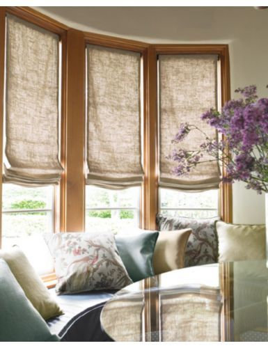 Relaxed Roman Fabric Shades Smith And Noble Curtains
