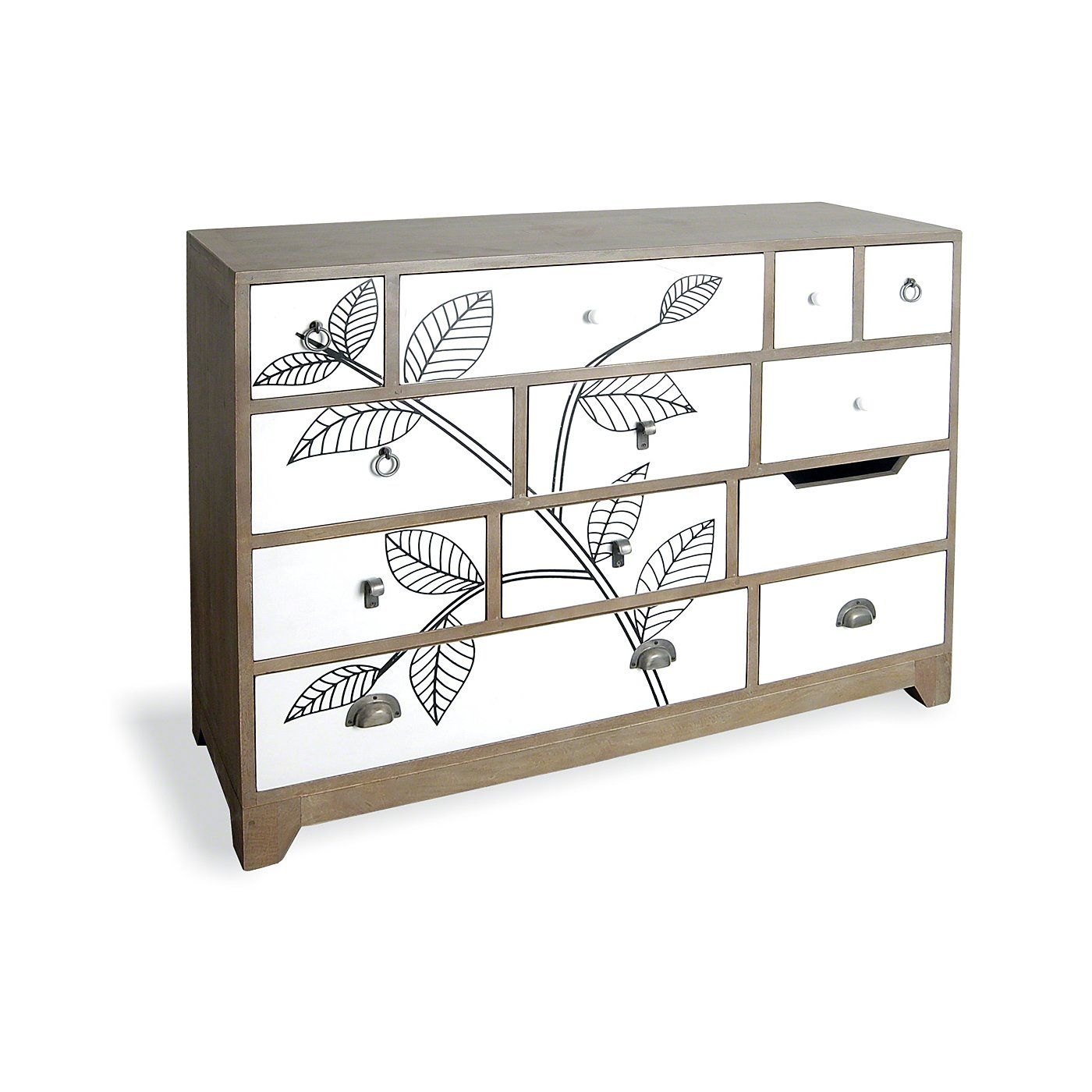 12 Drawer Chest Of Drawers Rye 12 Drawer Chest Of Drawers Leaf Print Sideboards Storage