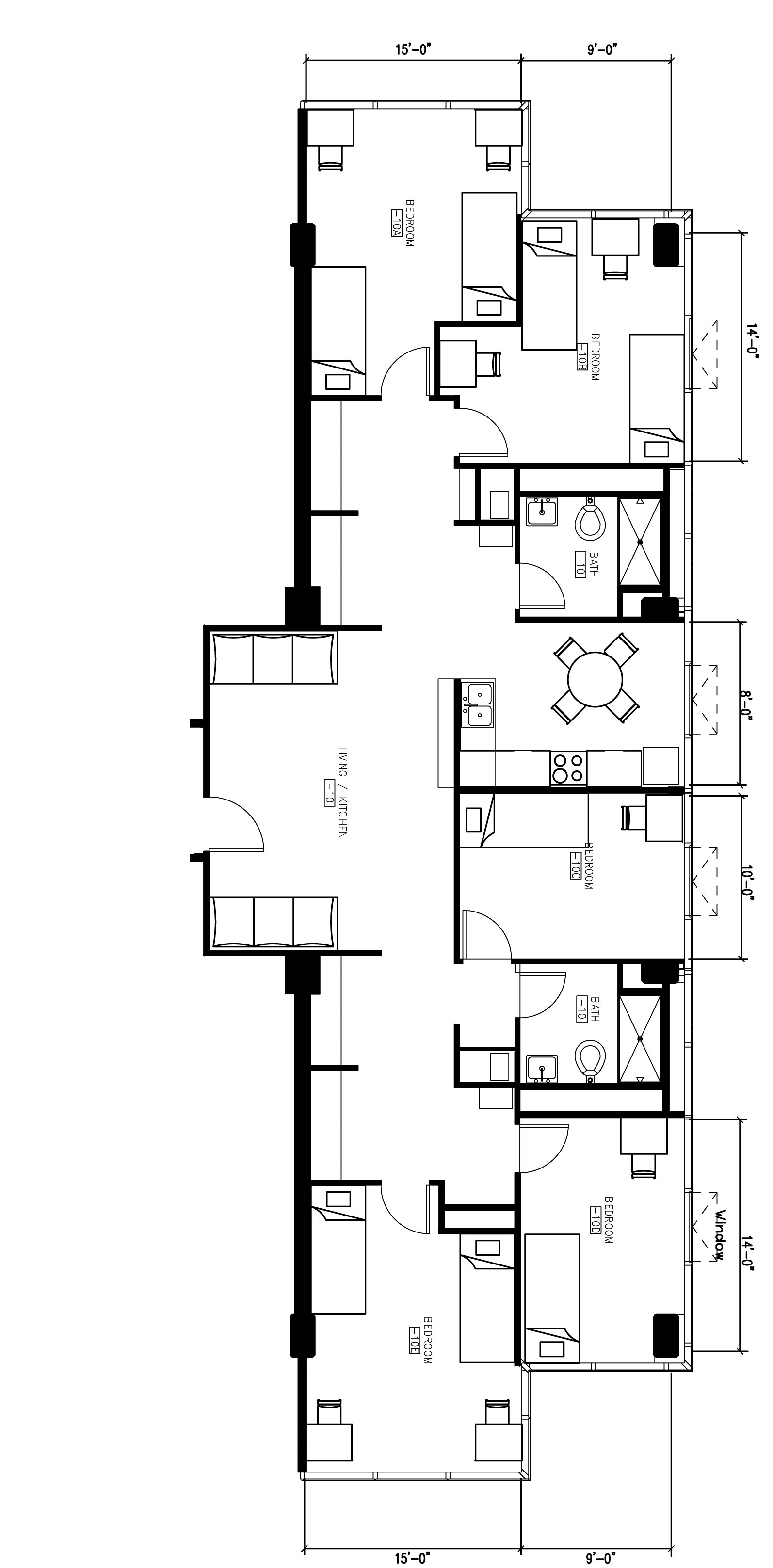 Morgens Hall 8 Person, 5 Bedroom Apartment Floor Plan
