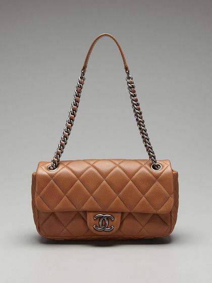 Chanel Quilted Flap Shoulder Bag With Antiqued Chain By A Second Chance Vintage On Gilt