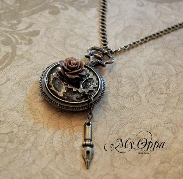 Colliers, Collier mécanique romantique est une création orginale de myoppa sur DaWanda