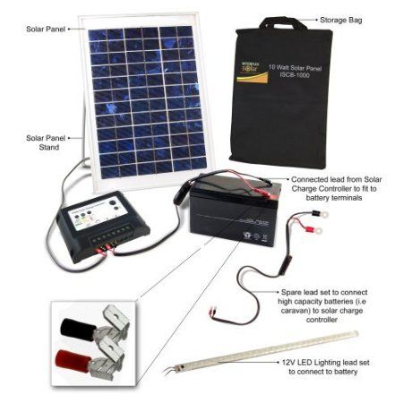 Solar 2 Go Solar 2 Go Isb Rl01 10 Watt Portable Solar Power Kit Projets A Essayer