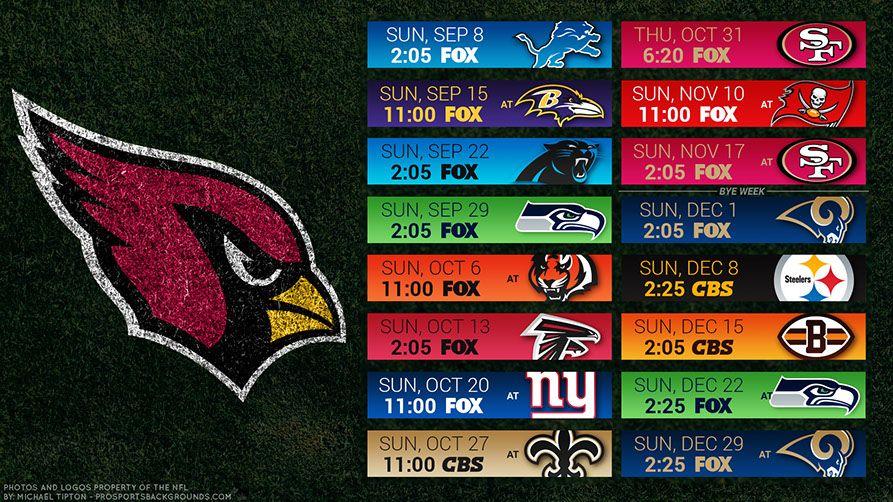8b339399 Arizona Cardinals 2019 Desktop PC Field NFL Schedule Wallpaper ...