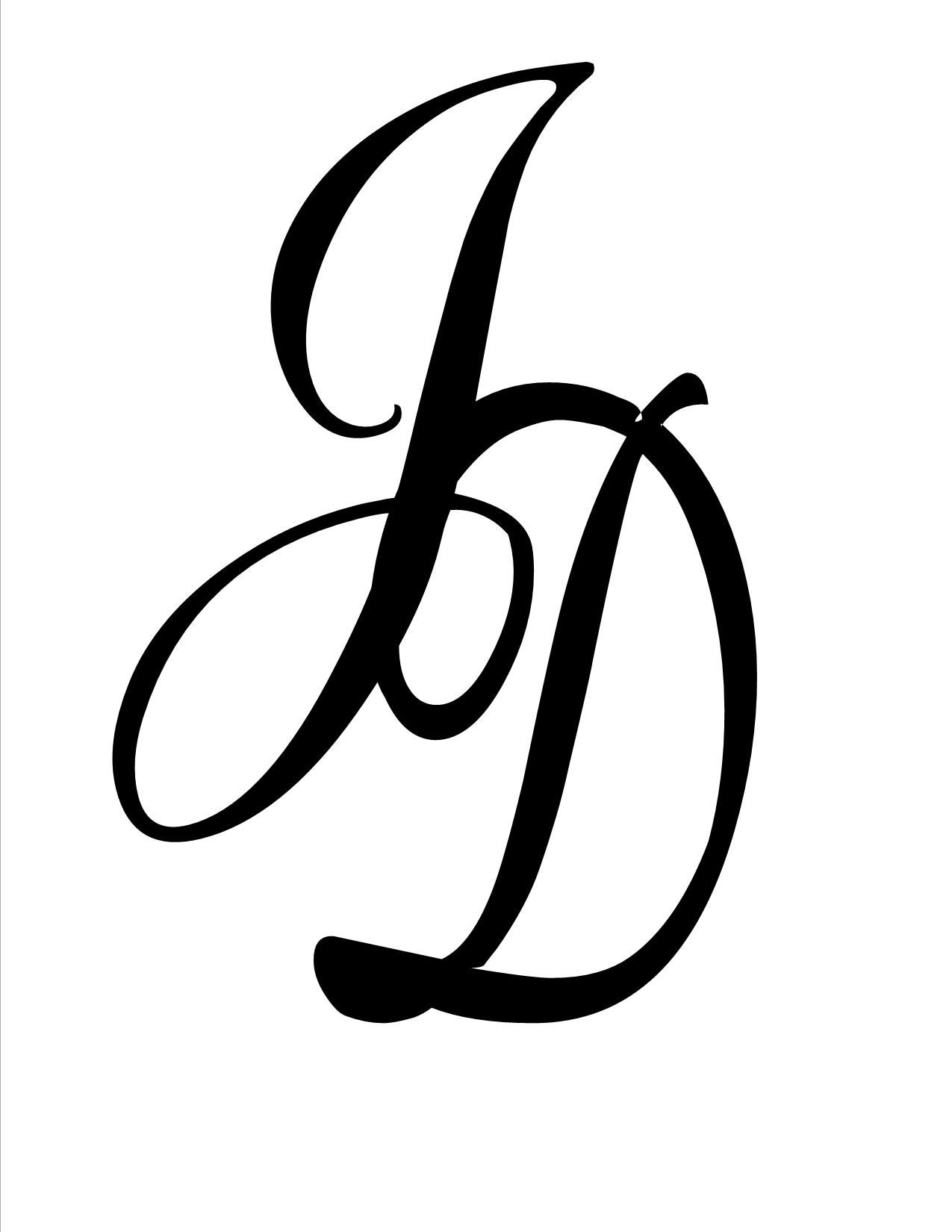 Jd Monogram J Tattoo Tattoo Lettering Letter D Tattoo