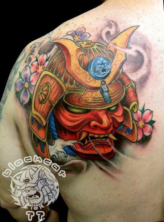 Pin by Rob on tat ideas | Samurai mask tattoo, Mask tattoo ...