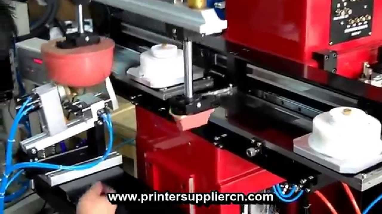 Two Color Shoe Heel Pad Printing Machine, 2 Colors Shoe Sole Tampo Prini...