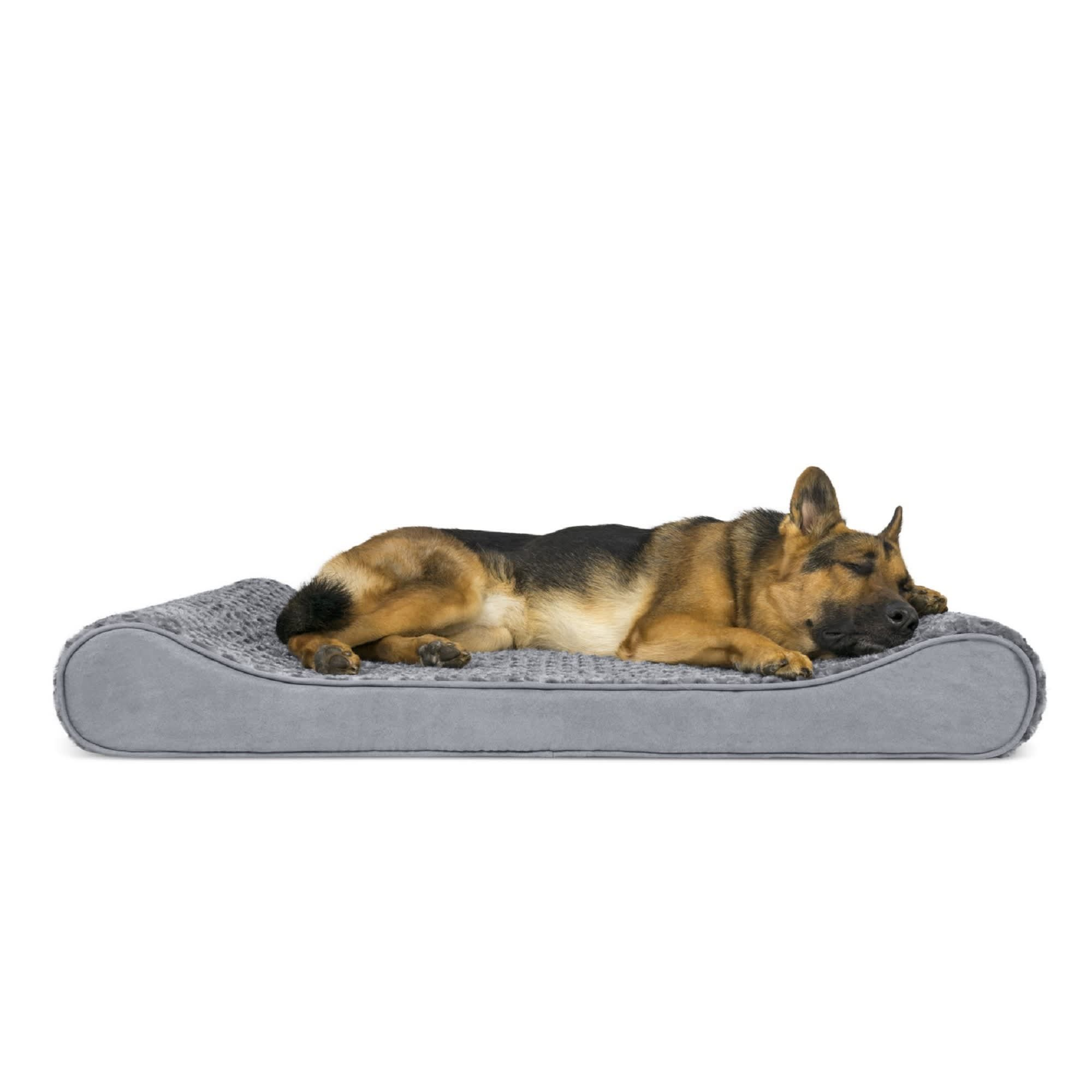 Furhaven Ultra Plush Luxe Lounger Orthopedic Dog Bed Gray 30 L X 45 W Petco Dog Pet Beds Orthopedic Pet Bed Dog Bed Large