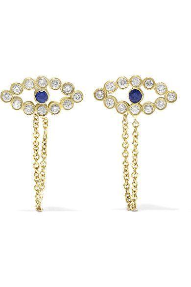Eye 18-karat Gold, Sapphire And Diamond Necklace - one size Ileana Makri