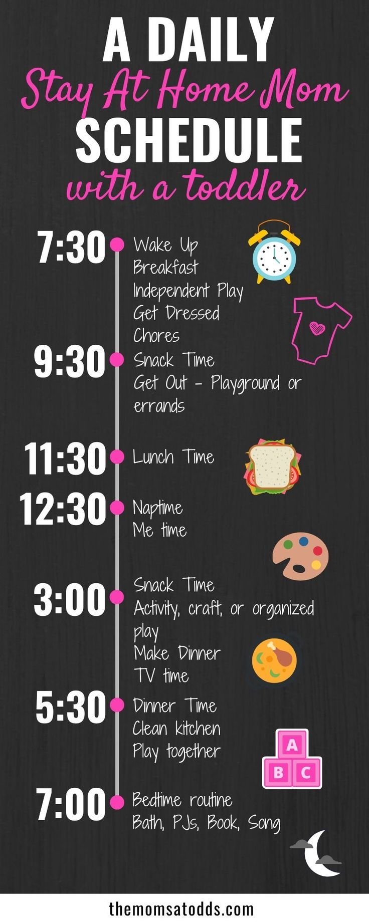 How To Make The Perfect Stay At Home Mom Schedule (With Example)