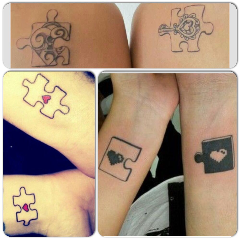 Name tattoo good idea puzzle couples tattoo ideas  tat  pinterest  couple tattoo ideas