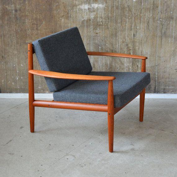 60er Grete Jalk Teak Sessel France Son 60s Easy Chair Danish