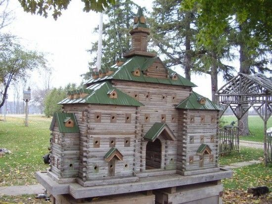 Fancy Wooden Bird Houses Homes For The Very Wealthy Birds Or The
