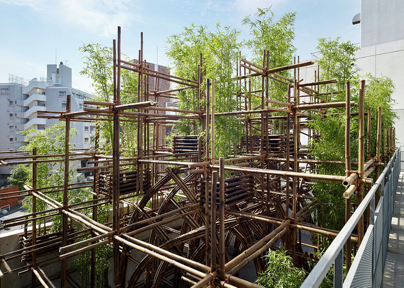 Vo Trong Nghias Green Ladder pavilion turns bamboo into