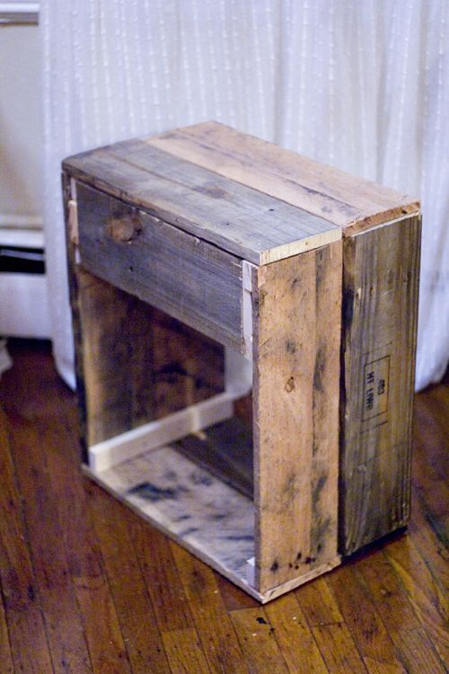 Pallet End Table Diy Night Stands