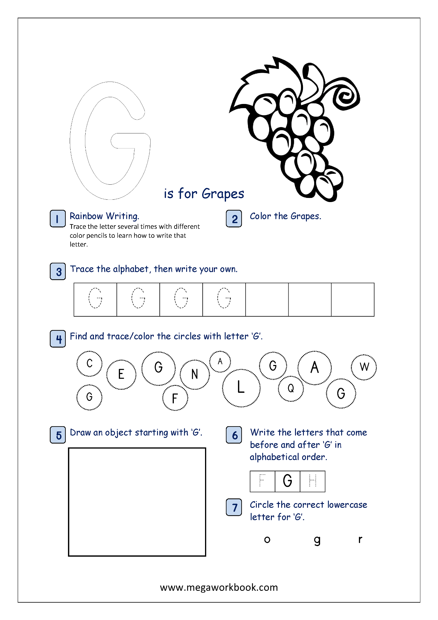 Alphabet Recognition Activity Worksheets For Capital