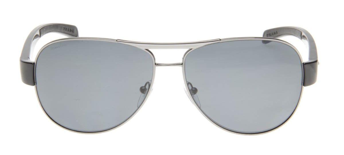 Prada SPS51L 62 - Prata e Preto - Polarizado - Óculos de Sol ... c6d7f7cca4
