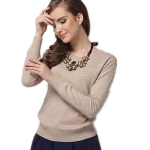 Womens Sweater Cashmere Wool Collar Type Multicolor Can Choose