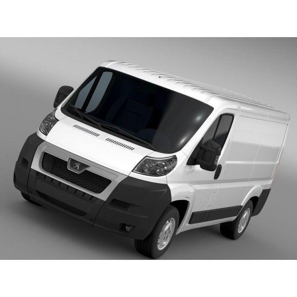 Peugeot Boxer Van L1H1 2006-2014 - 3D Car for Maya