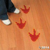 Fun Express Large Dinosaur Foot Print Floor Decal Clings - 12 Pieces