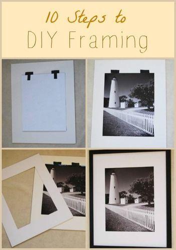 How To Frame Artwork Like A Pro Diy Frame Diy Picture Frames