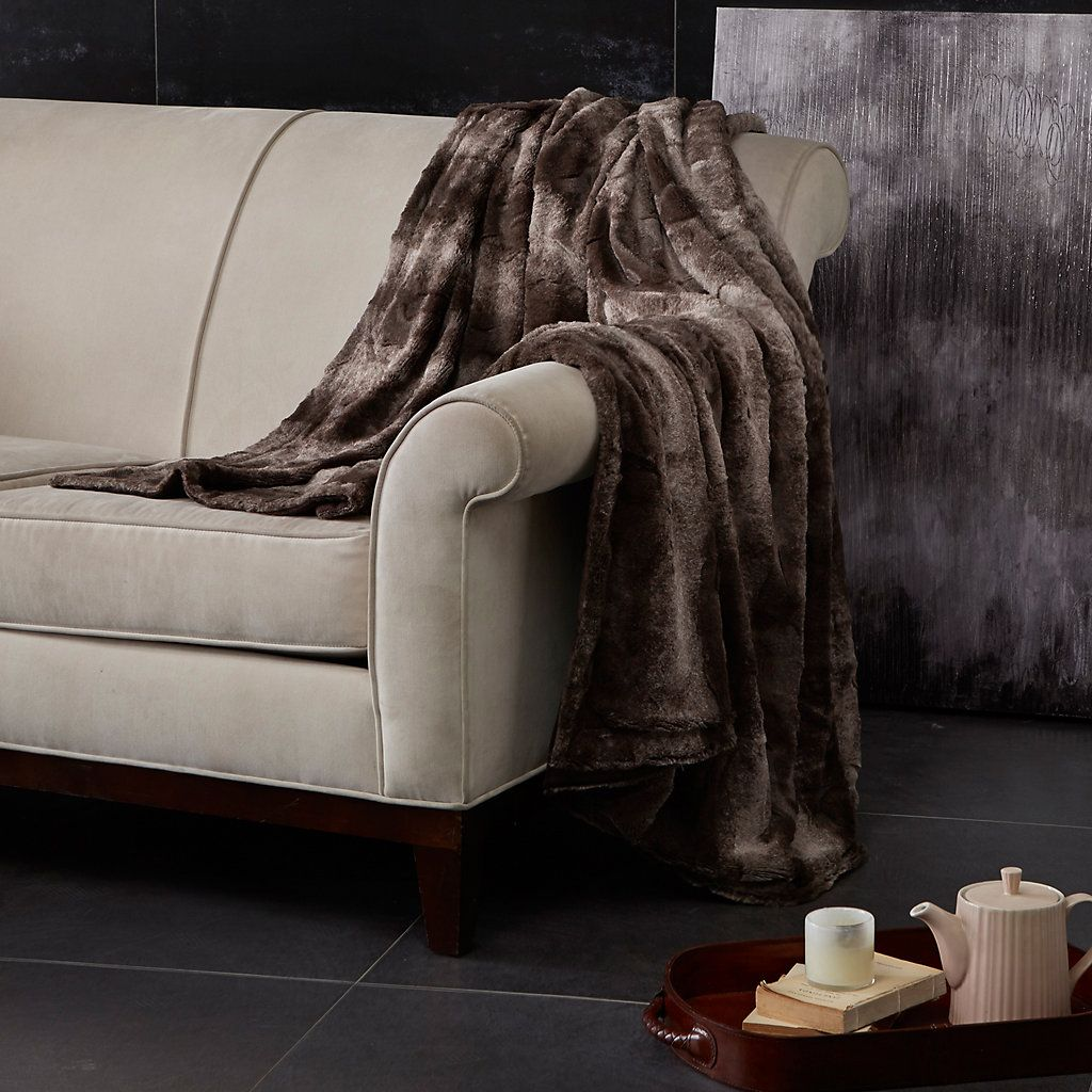 38 Madison Park Marselle Oversized Faux Fur Throw