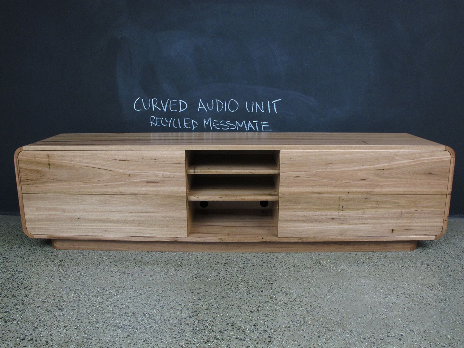 Recycled Messmate Timber Audio Visual Cabinet Cole Furniture