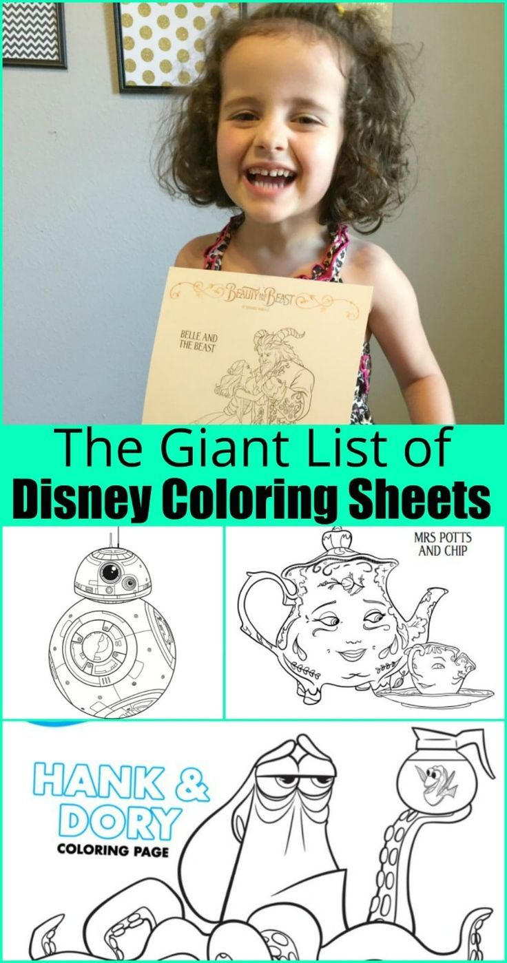 The giant collection of free disney coloring sheets parents and babies