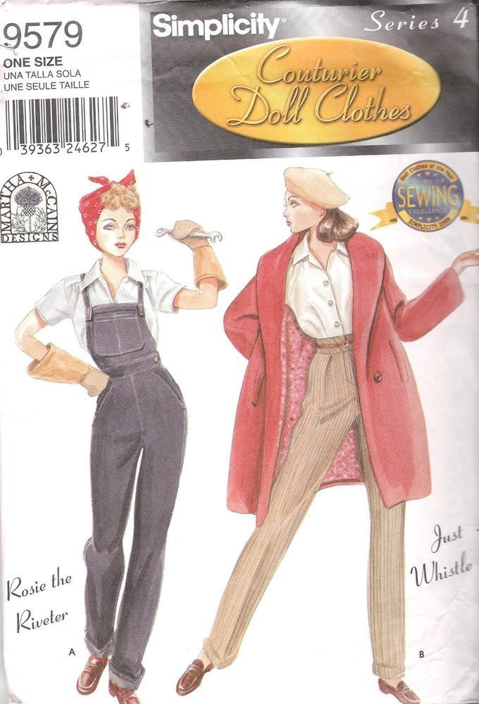 GENE Fashion Doll Clothes SEWING PATTERN 9579 SIMPLICITY 15.5 in 39.5cm  UNCUT