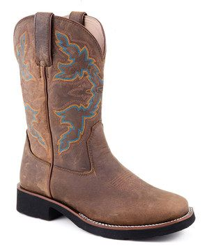 Another great find on #zulily! Roper Brown Riderlite Square-Toe Cowboy Boot - Women by Roper #zulilyfinds