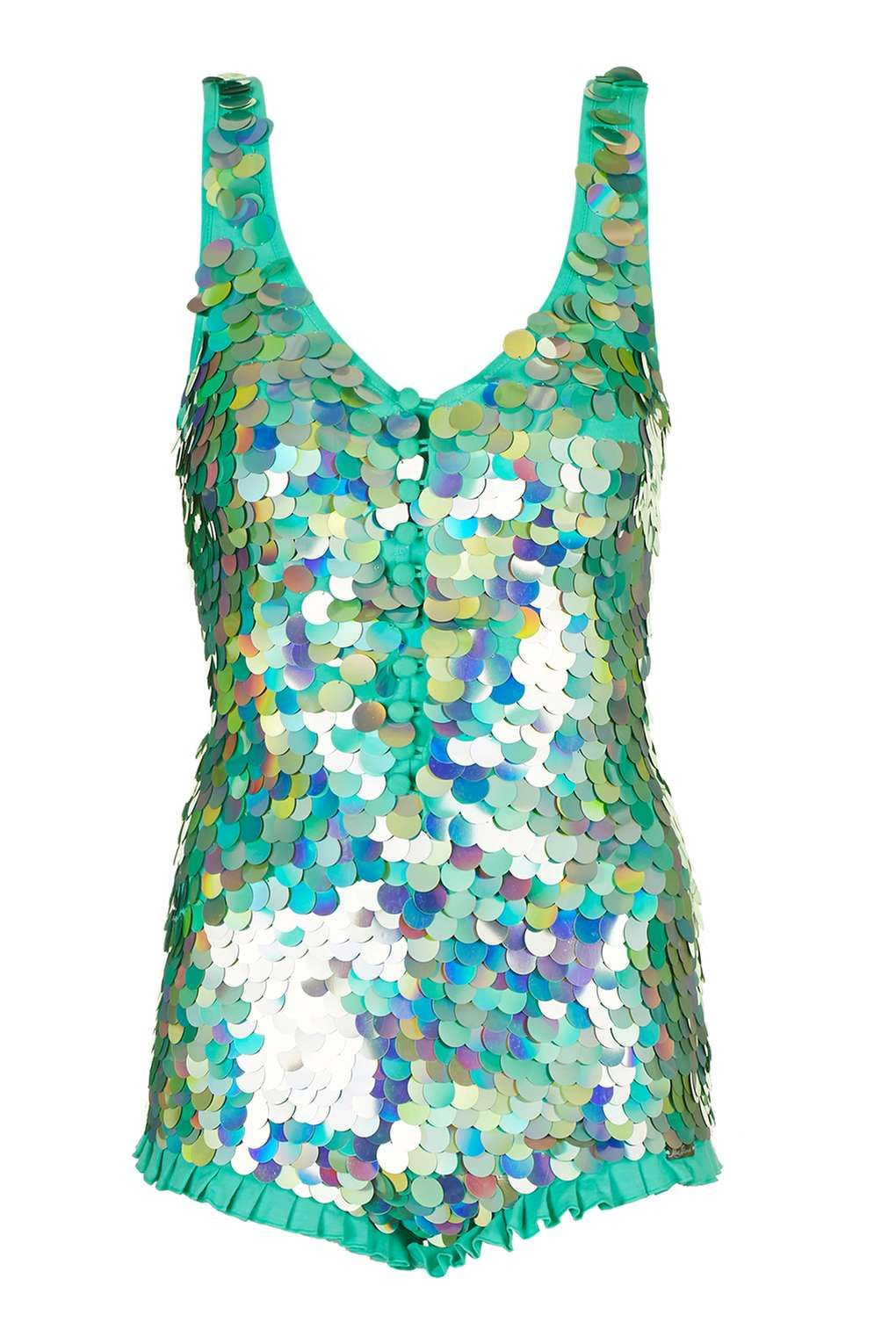 3fe091be90 Hologram Sequin Playsuit by Rosa Bloom - 3 Beauty Looks for Every Festival  - We Love - Topshop