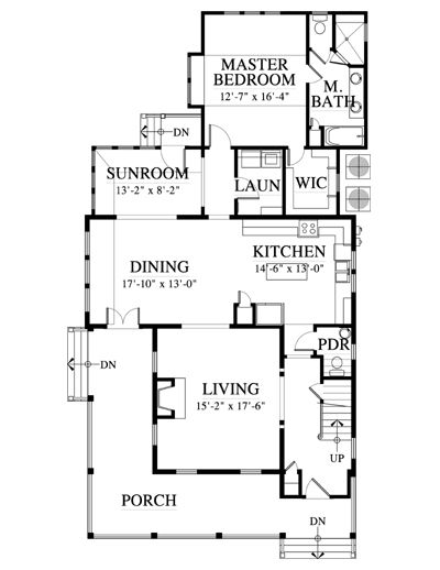 Allison Ramsey Architects Floorplan For The Camden