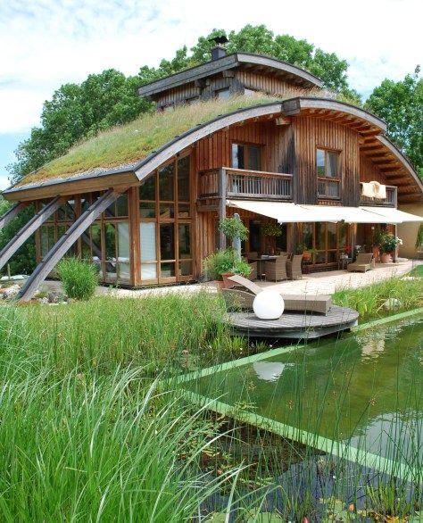 Dachbegrunung Gegen Flachenversiegelung Haus Architektur Autarkes Haus Architektur Haus