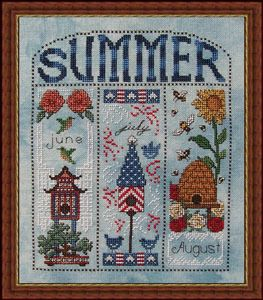 Summer Homes - Cross Stitch Pattern by Whispered by the Wind