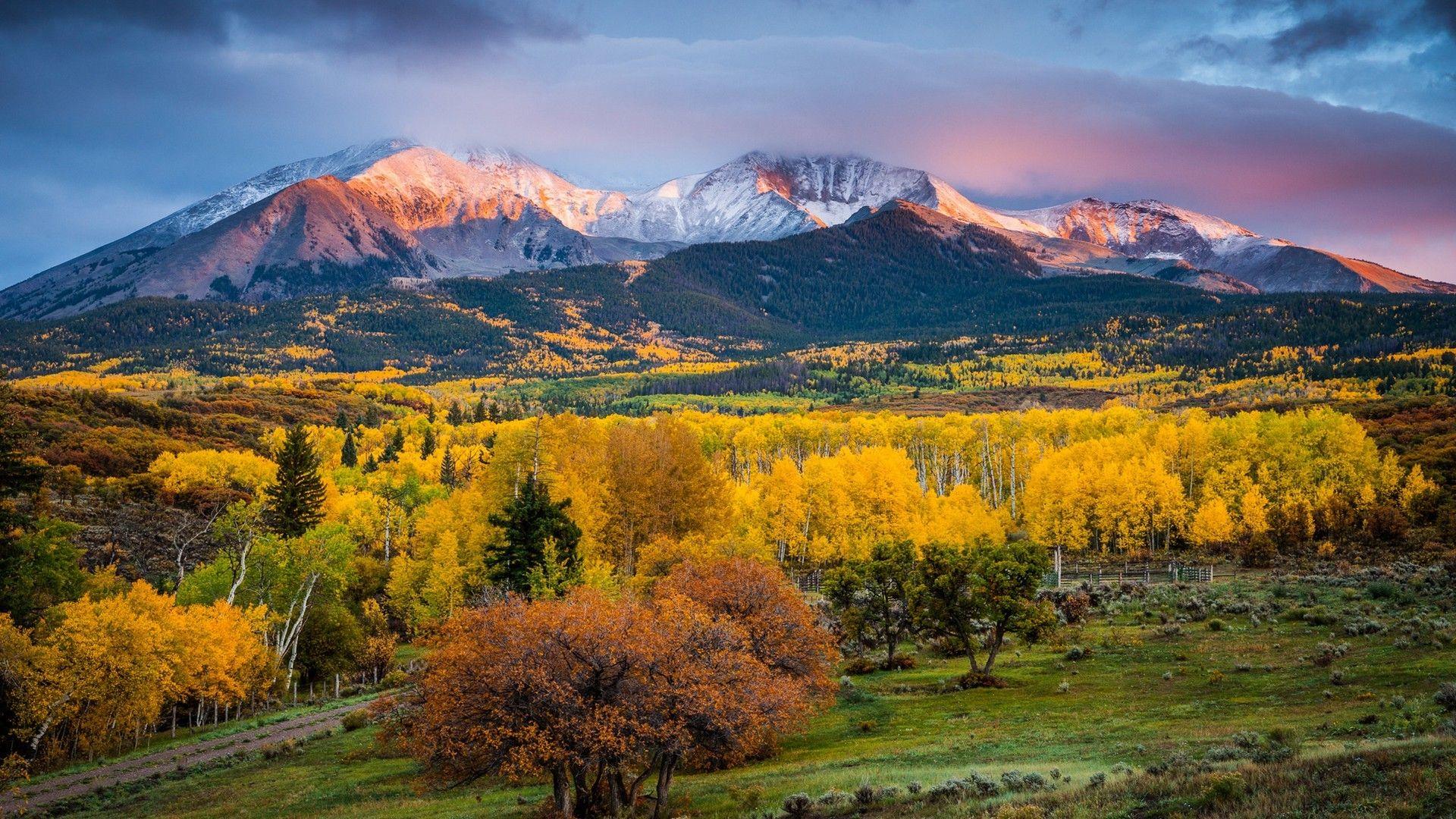 Colorado Fall Colors Sunrise Landscape Wallpaper Hd For Desktop Sunrise Landscape Colorado Landscape Scenic
