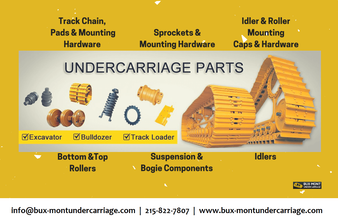 BMU has solutions for your undercarriage parts of bulldozer