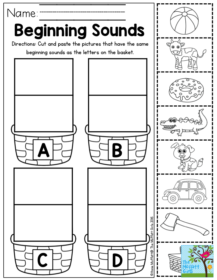 Beginning Sounds Letter Sorting- Perfect for Preschool