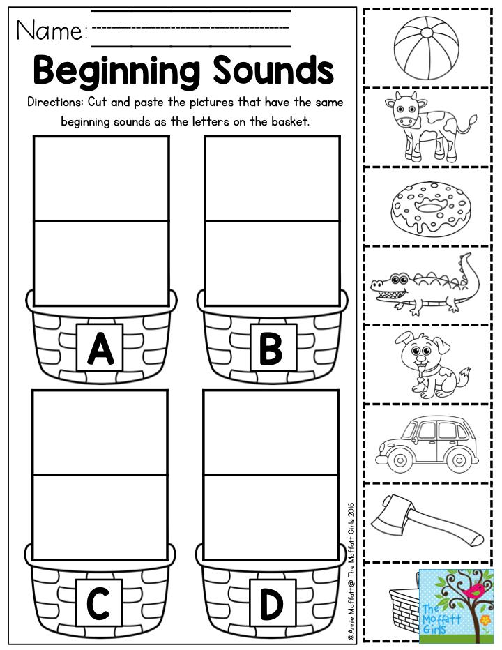beginning sounds letter sorting perfect for preschool alphabet preschool worksheets. Black Bedroom Furniture Sets. Home Design Ideas