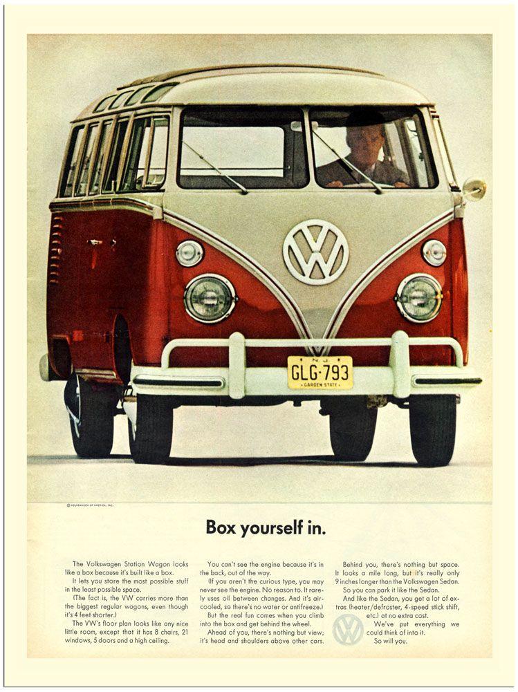 e8f5087630 AP1106 - VW Camper Van Advert (30x40cm Art Print)