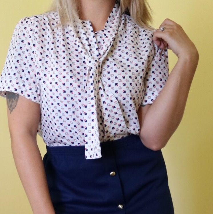 b10f7973b02 Listed on Depop by jlrvintage. Pastel floral vintage button up collared  shirt.