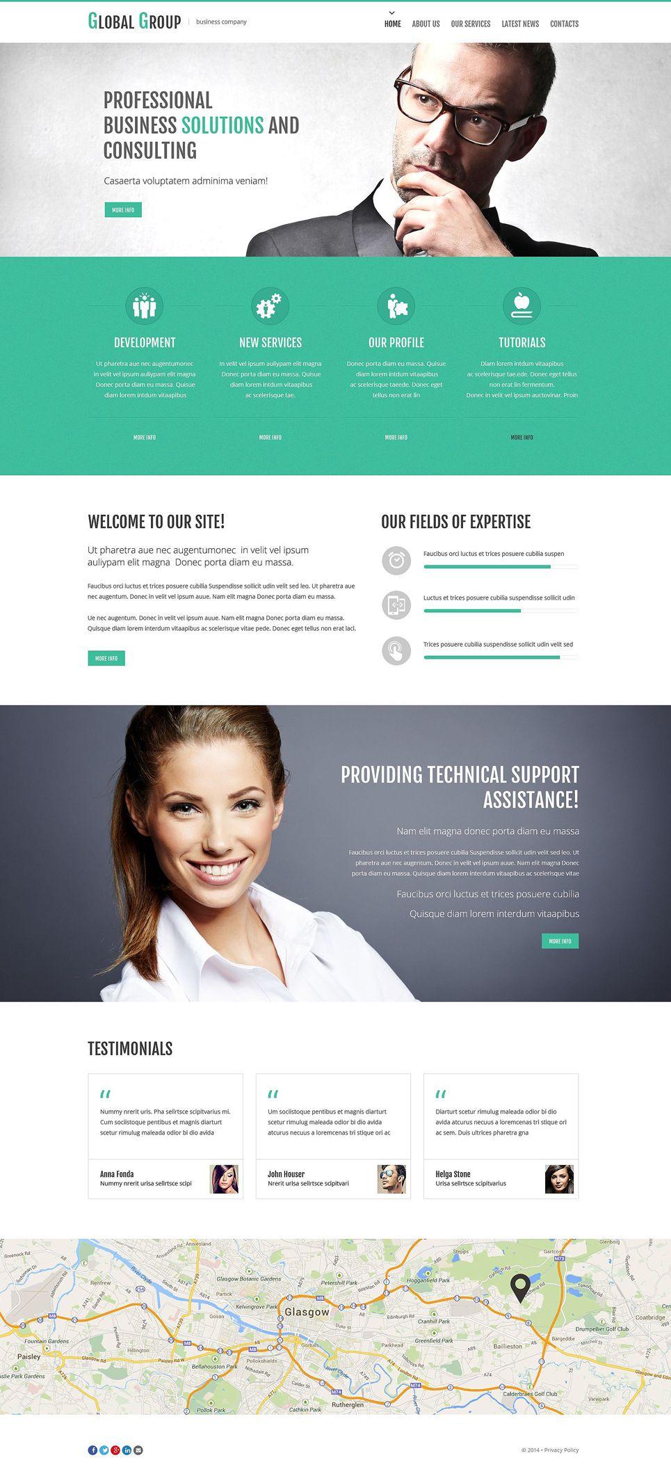 Business Services Responsive Website Template 51851 Website Template Business Website Templates Corporate Website Templates