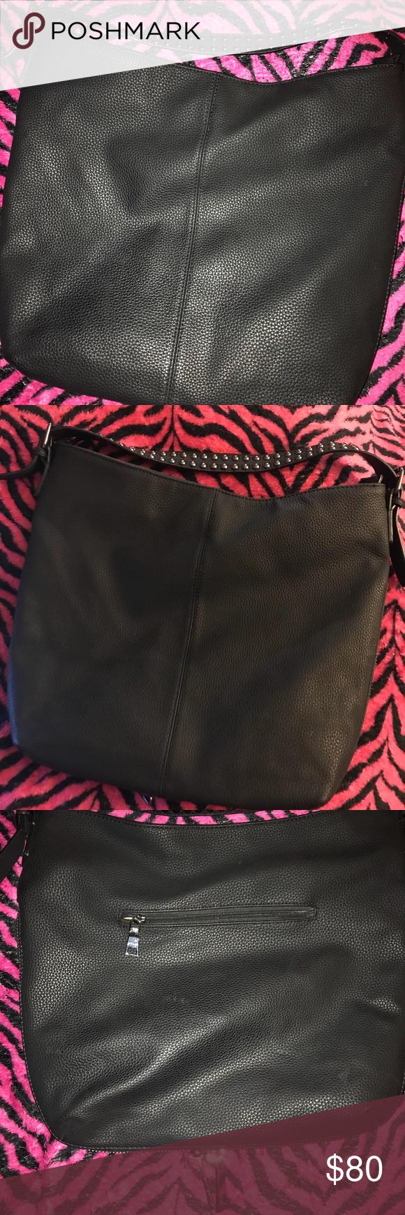 Black Rivet Leather Handbag Wilson's Leather Black Rivet