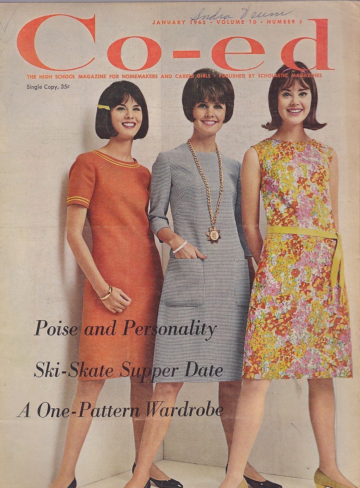 JAN 1965 CO-ED fashion - teen - magazine | Teen magazines ...