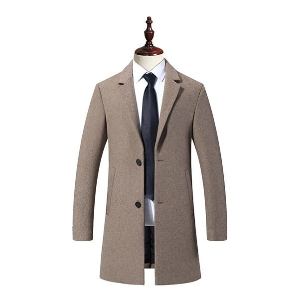 f3eaf98ce5d Casual Business Fashion Warm Wool Trench Coat | Men's Jacket & Coats ...