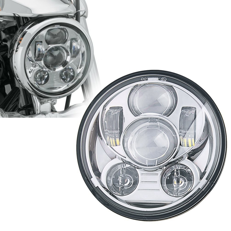 "48.00$  Watch here - http://alip4b.worldwells.pw/go.php?t=32650312894 - ""DOT SAE Emark approved Chrome 5.75"""" Round LED Headlight for Street Bob FXDB, Rider FXDL, Iron 883 XL883N 45W Hi/Lo Beam"" 48.00$"