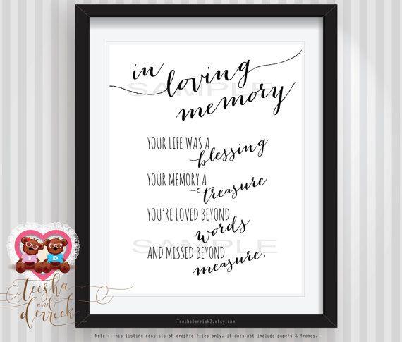 Instant Printable In Loving Memory By Teeshaderrick
