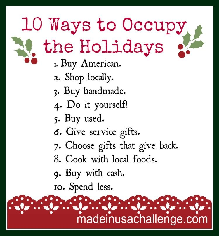 Ten Ways To Occupy The Holidays Christmas Projects Diy Holiday Indie Gifts